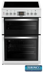 Blomberg 60cm Wide Cooker Double Oven HKN64W (White)